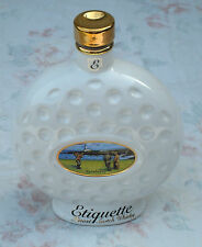 RARE VINTAGE 1970s WADE PORCELAIN TURNBERRY GOLF BALL ETIQUETTE WHISKY DECANTER