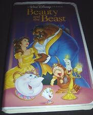 Beauty and the Beast Rare Walt Disney Black Diamond Classic VHS 1992