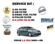 FOR FORD FOCUS 1.8TDCi 2005  SERVICE KIT OIL AIR FUEL POLLEN FILTER + 6 LTR OIL
