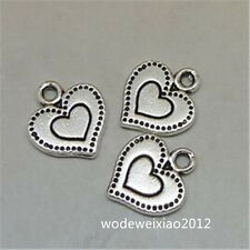 20pc Tibetan Silver heart Charms Beads Pendant Jewellery Making Wholesale JP972