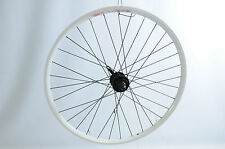 "26""MTB (559x19) DISC HUB BIKE FRONT WHEEL WHITE DOUBLE WALL RIM QUICK  RELEASE H"