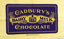 Vintage 'CADBURY'S DAIRY MILK WRAPPER' Chocolate POSTER Logo Cotton TEA TOWEL