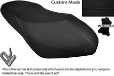BLACK STITCH CUSTOM FITS PGO G MAX 125 DUAL LEATHER SEAT COVER ONLY