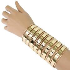 "5"" gold long cage tunnel cuff bracelet bangle 067"