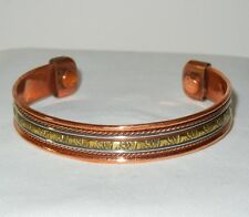 BRASS ELEPHANTS On COPPER CUFF BRACELET With MAGNETS #6