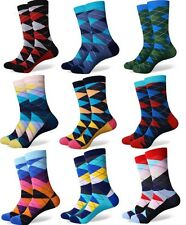 10 Pack New Men Happy Socks Checked Multicolour British Style Gradient Colour