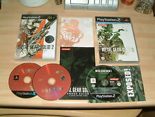 METAL GEAR SOLID 2 SONS OF LIBERTY + 3 SNAKE EATER ..PS2 PLAYSTATION 2 GAMES PAL