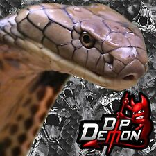 BLACK & TRANSPARENT COBRA SNAKE FILM HYDROGRAPHIC WATER TRANSFER HYDRO DIPPING