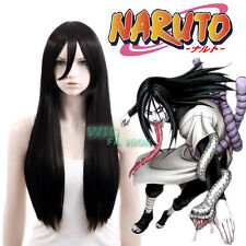 Naruto Orochimaru Long Straight Black Anime Cosplay Wig