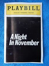 A Night In November - Douglas Fairbanks Playbill w/Ticket - September 24th, 1998