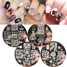 4pcs/set Born Pretty Nail Art Stamp Template Plates Roses Alphabet Patterns Kit