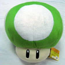 SUPER MARIO BROS. FUNGO VERDE PELUCHE 1UP -17Cm.- Mushroom Funghetto Plush Power