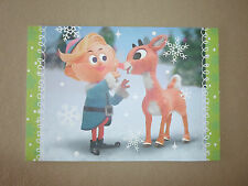 """Sunrise Greetings~Rudolph The Red-Nosed Reindeer Christmas Card~7"""" X 4 3/4"""", NEW"""
