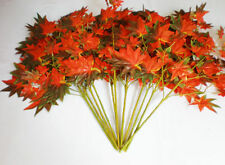 12 stems Maple Leaf artificial plants Artificial tree branches 300 leaves Red