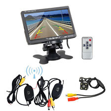 "Wireless IR Rear View Back up Camera Night Vision System+7"" Monitor for Car SUV"