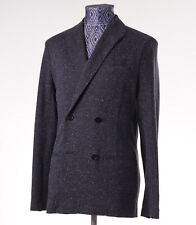 New Z ZEGNA Unstructured Charcoal Gray Melange Jersey Blazer 36 R Sport Coat