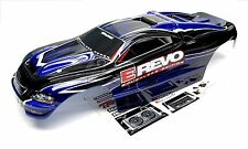 Brushless E-REVO BODY shell (DARK BLUE + BLACK & Decals) 1/10 Traxxas #5608