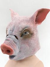 Halloween Evil Horror Pig Boar Overhead Rubber Mask Fancy Dress Animal Accessory