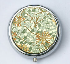 Art Nouveau Floral honeysuckle, Pill case pillbox pill holder floral design