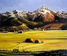 COLORADO HAYFIELD  AND MT. SNEFFLES giclee print , by Richard R. Nervig