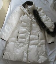 MARCONA DUVET / DOWN  WHITE LADIES WOMEN'S PUFFER COAT WITH HOOD - SIZE XL