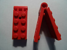 LEGO PART 3149c01 RED  2 x 5 HINGE PLATE COMPLETE ASSEMBLY x 2