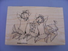 HOUSE MOUSE RUBBER STAMPS ANGEL MICE CHRISTMAS STAMP
