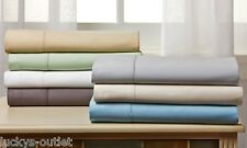 300-Thread-Count Egyptian Cotton-Rich 4 Piece Sheet Set Made in India Ivory