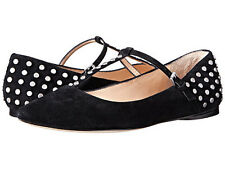Belle by Sigerson Morrison Valeda black suede flats size 10 new in box