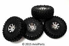 "(4) Axial Wraith Ripsaw 2.2"" RTR Rock Crawler Racer Tires & Wheels Poison Spawn"