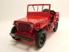Willys Jeep 4x4 1944 rot, Modellauto 1:18 / Welly