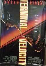 Terminal Velocity Original Double Sided Movie Poster Charlie Sheen/Kinski 1994