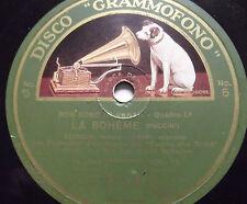 """78 rpm-12""""-LA BOHEME-ARISTODEMO GIORGINI R. TORRI (DUETTO)"""