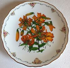 The Queen Mothers favourite flowers Royal Albert Collectors plate Tiger Lily