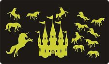 Glow In The Dark Wall Stickers - Luminescent - UNICORNS & CASTLE - Large Size