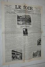 FAC-SIMILE A LA UNE JOURNAL LE SOIR 12/06 1931 EXPOSITION COLONIALE COLONIE EXPO