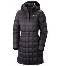 Columbia Hexbreaker Womens S Long Down Jacket Warm Hooded Blk Winter Coat Small