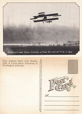 CK HAMILTONS FIRST FLIGHT AT THE MEADOWS UNUSED REPRODUCTION POSTCARD