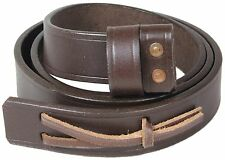 WW2 British Army LEE ENFIELD RIFLE SLING - Genuine Brown Leather Repro Gun Strap