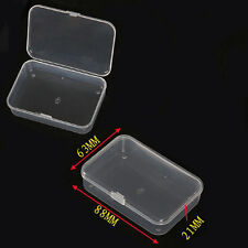 Small Plastic Clear Transparent Collection Container Case Storage Box Uesful