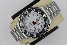 Tag Heuer WAC1111.BA0850 WHITE Formula One Professional Watch Mens SS Mint Dial
