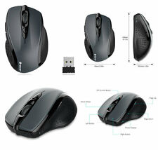 TeckNet Pro 2.4G Wireless Optical Mouse Mouses 6 Botones Gris de batería de 24 meses