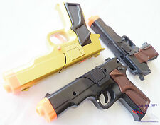 3x Toy Guns MEGA Set! Military Detective 3x 9MM Pistol Cap Guns Set BBG
