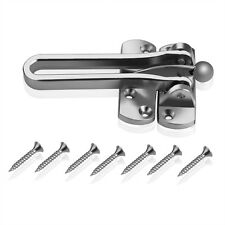Door Check Guard Security Bar 4.5mm Silver Plated Swing Safety Restrictor Lock