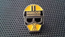 A quality hard enamel Barbour international  pin badge limited edition