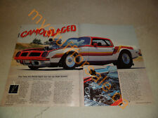 1974 PONTIAC TRANS AM ARTICLE / AD
