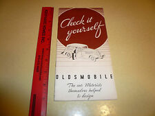 1934 Oldsmobile Check it Yourself Booklet - Vintage
