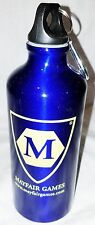 Mayfair Games Blue Metal Water Bottle Canteen Flask With Clip New Free Shipping