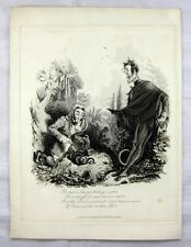 Thomas Landseer Etching - He saw a Lawyer killing a viper - Devil's Walk 1831