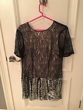 by malene birger Lace And Sequined Dress NWT
